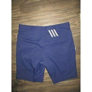 Adidas 3 Stripe Golf Shorts 35 Blue